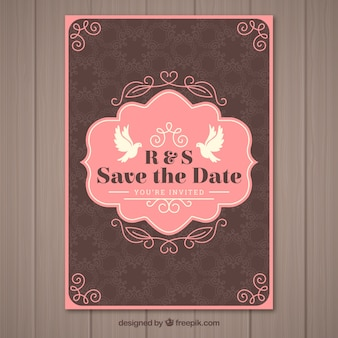 ヴィンテージスタイルの素敵な結婚式招待状