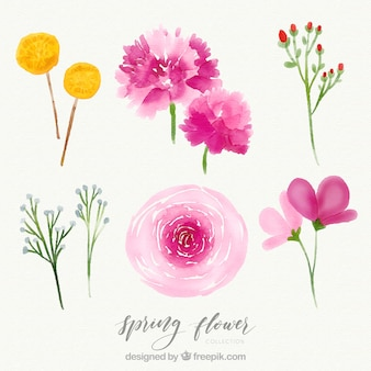 Творческий акварельный цветок