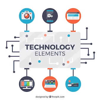 フラットスタイルの技術要素の背景