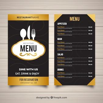 フラットデザインのレストランメニューテンプレート