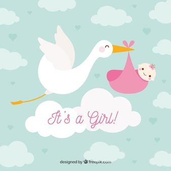 フラットスタイルの赤ちゃんの女の子の背景