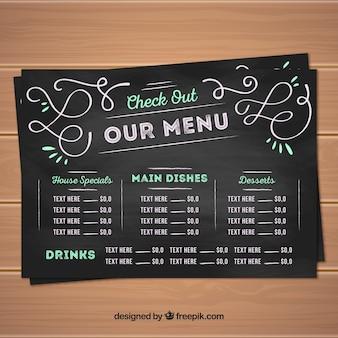 Творческий дизайн меню в стиле доски