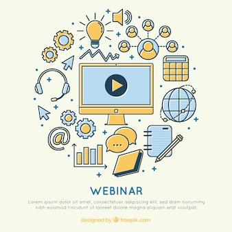 Веб-семинар с множеством элементов