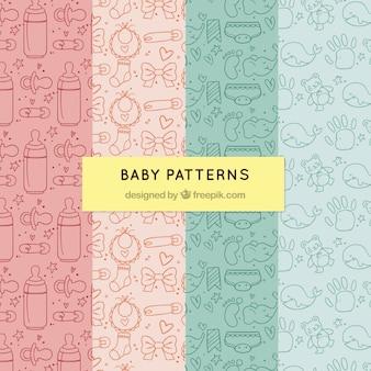 赤ちゃんのパターンのパック
