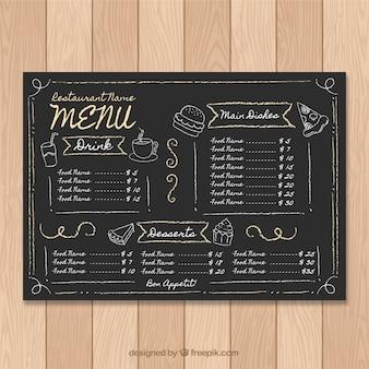 Шаблон меню «мел»