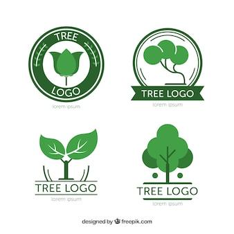 Современная коллекция логотипов деревьев