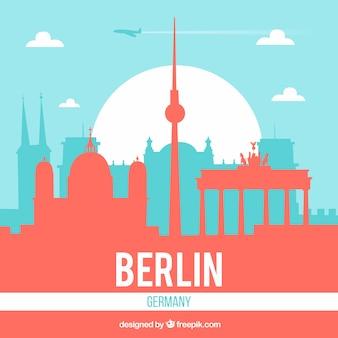 ベルリンの近代的なスカイライン