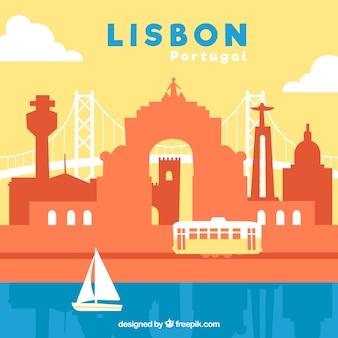 Красочный горизонт лиссабона