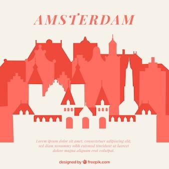 アムステルダムの抽象的なスカイライン