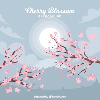Творческий фон цветения вишни