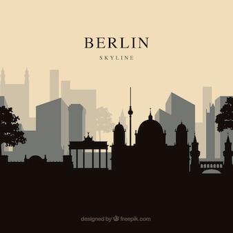 ベルリンのスカイラインの背景