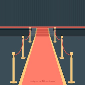 レッドカーペットのデザイン