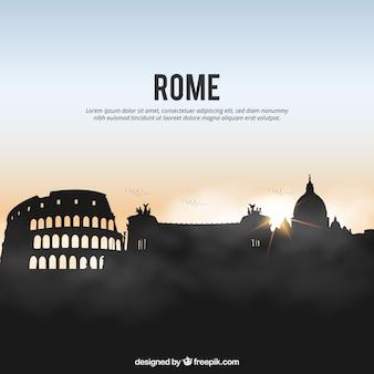 ローマのスカイラインの背景