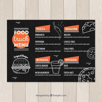 Дизайн меню грузовых автомобилей