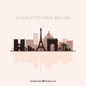 パリのスカイラインのシルエット