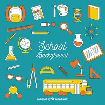 要素を持つ学校の背景