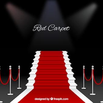 現実的なスタイルのレッドカーペットの背景