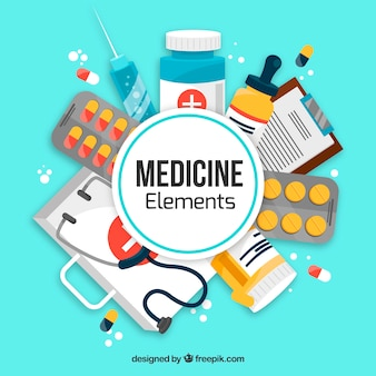 薬の要素の背景
