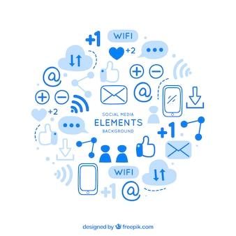 ソーシャルメディアの要素の背景