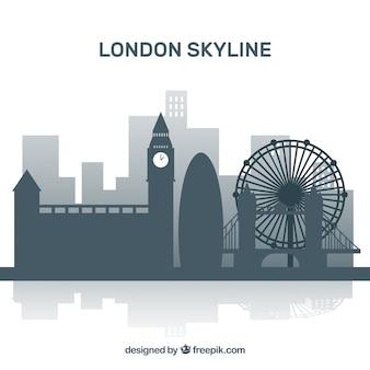 ロンドンのフラットスカイライン