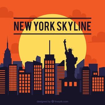 ニューヨークのスカイラインデザイン