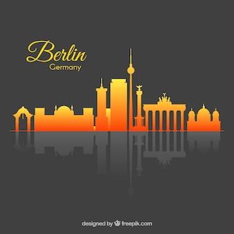 ベルリンのグラデーションスカイライン
