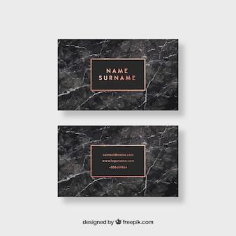 Визитная карточка с мраморной текстурой