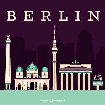 ベルリンのモニュメントのスカイライン