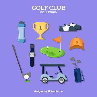 いくつかのゴルフの要素のコレクション