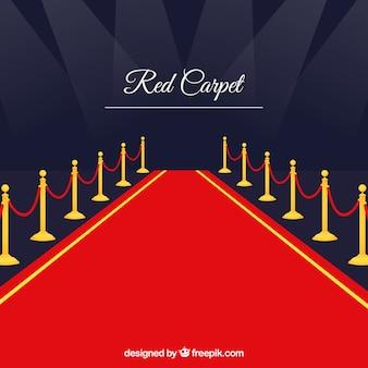 フラットスタイルのレッドカーペットの背景