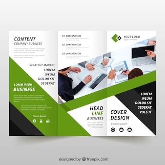 Зеленый трехмерный бизнес-лист