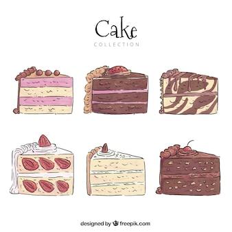 Вкусная коллекция тортов в стиле ручной работы