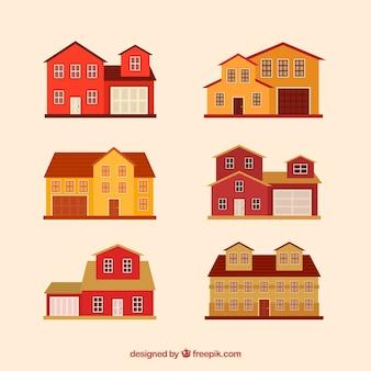 赤と黄色の家