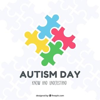 Красочный фон мирового дня аутизма
