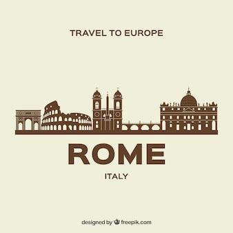 ローマの現代のスカイライン