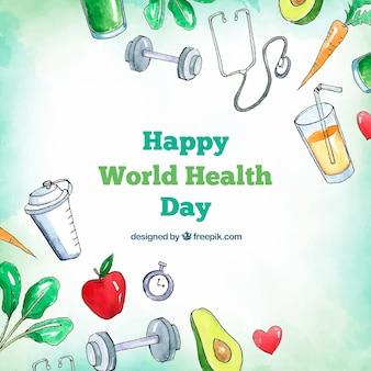 世界の健康の日の背景