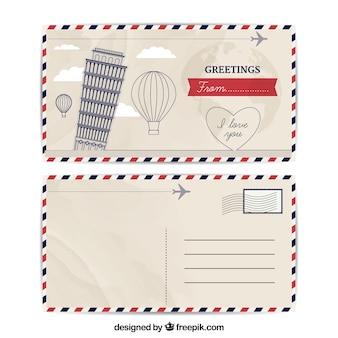 Шаблон визитной карточки в винтажном стиле
