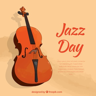 国際ジャズ・デイのための素敵な手描きの背景