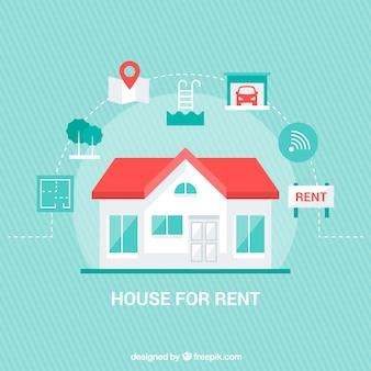 Хороший фон с концепцией дома в аренду