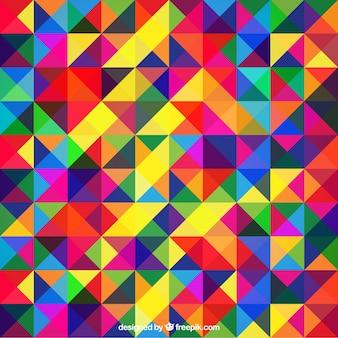 三角でカラフルな抽象的な背景