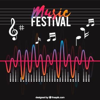 フラットスタイルの音楽祭の背景