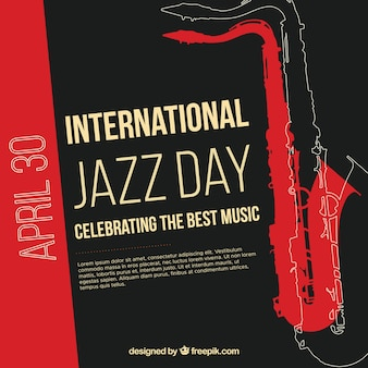 国際ジャズ・デイのための素敵な背景