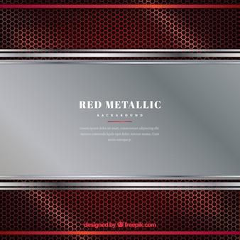 赤い金属の背景