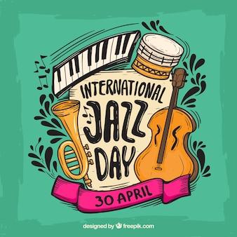 国際的なジャズの日のためのカラフルな背景
