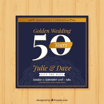フラットスタイルの結婚記念日カード