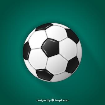 現実的なスタイルのサッカーボールの背景