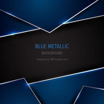 青い金属の背景