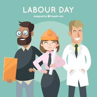 手描きの労働日の背景