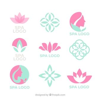 スパの素敵なロゴのコレクション