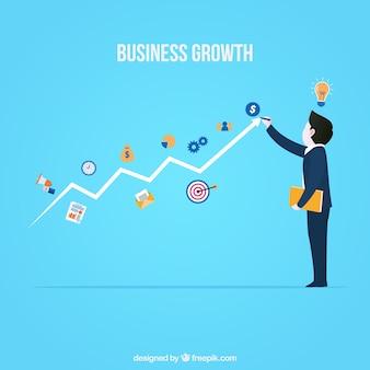現代のビジネス成長のコンセプト